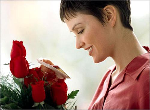 Фото цветок и женщина