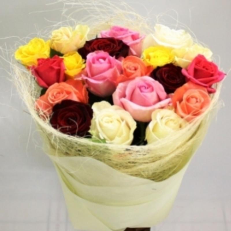 Оформление цветов сизаль